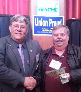 President Homan and Local 96 Member John Davis